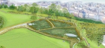 Artist's impression of the planned Firs Farm wetlands