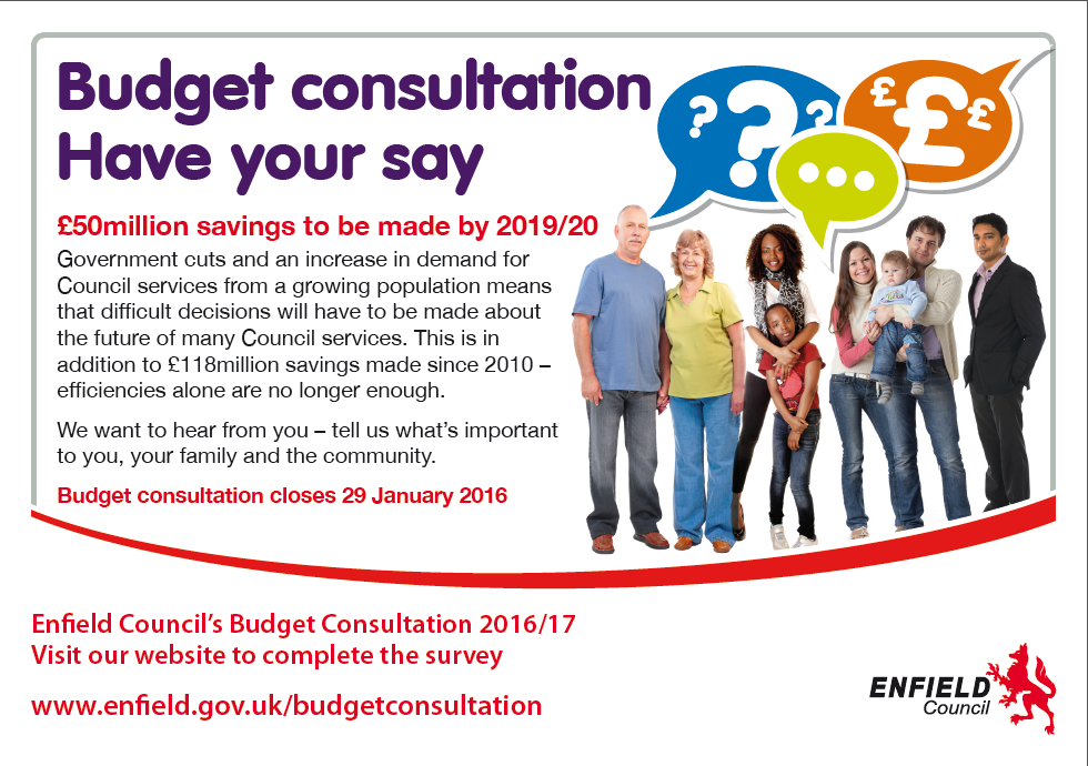 enfield budget consultation